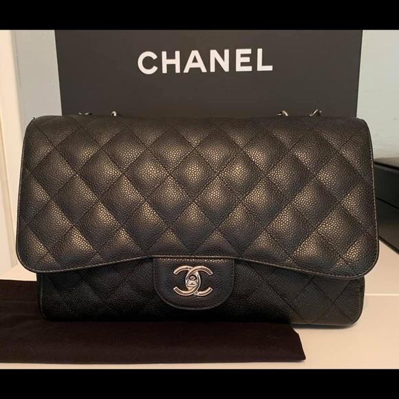 06bcdff234a4 CHANEL Bags | Jumbo Single Flap Bag W Shw | Poshmark